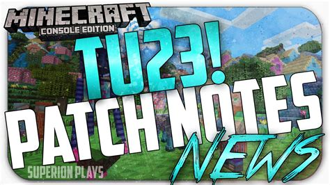 minecraft console tu released patch notes pattern
