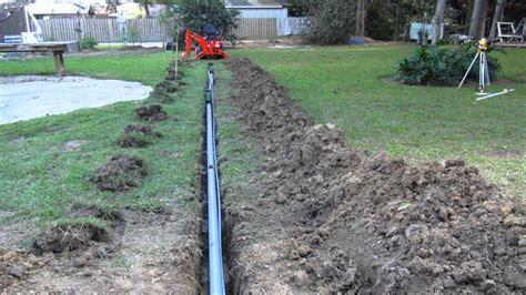 backyard drain backyard drainage project youtube