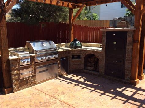 outdoor kitchen designs with smoker outdoor kitchens hi tech appliance 7238
