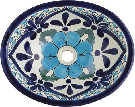 mexican hand painted sinks mexican tile mexican talavera sink polanco 3