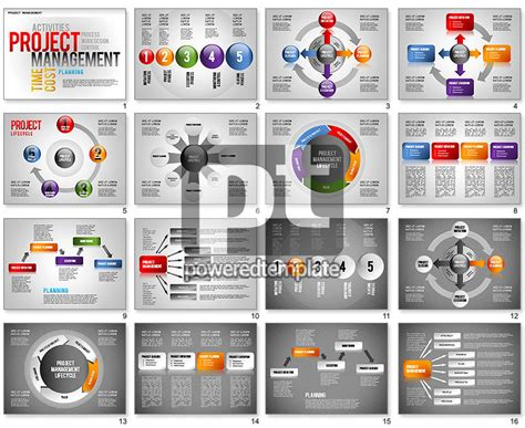 project management diagram set  template