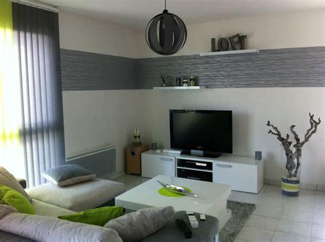 maison et cuisine deco salon moderne gris