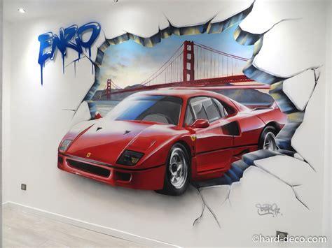 chambres filles voitures décoration graffiti deco