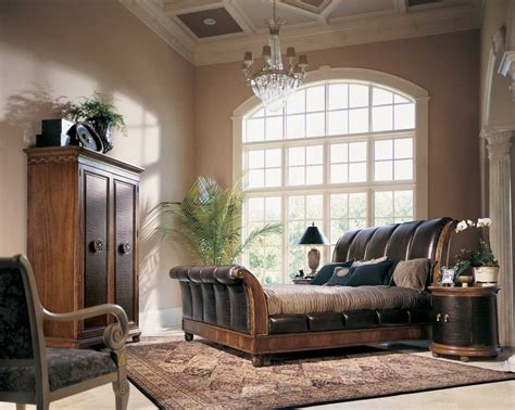 american drew bob mackie home classics sleigh bed with
