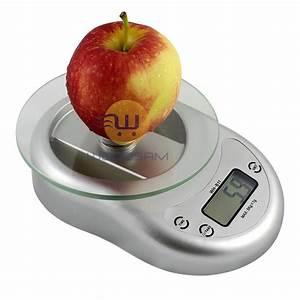 Digital Kitchen Scale Diet Food Weighing Balance Clock ...