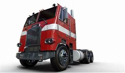 Fl86 Freightliner Cab Truck Engine Iray 3d