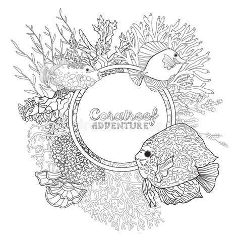 coral reef children stock illustrations  coral reef