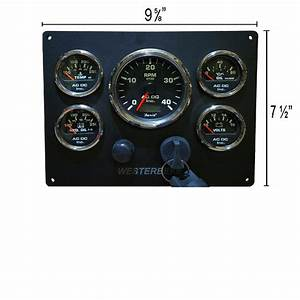 Black Westerbeke Marine Engine Panel  Black Gauges  U2013 Ac Dc