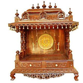 buy temple design  house wooden pooja mandir