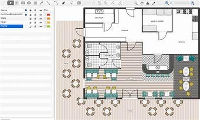 Plan Floor Restaurant Cafe Conceptdraw Start Example