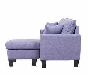 modern linen fabric small space sectional sofa w With modern contemporary linen sectional sofa with