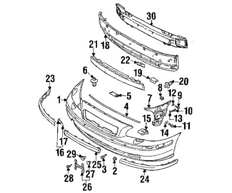 Volvo Parts Diagrams by Parts 174 Volvo V70 Shell Oem Parts