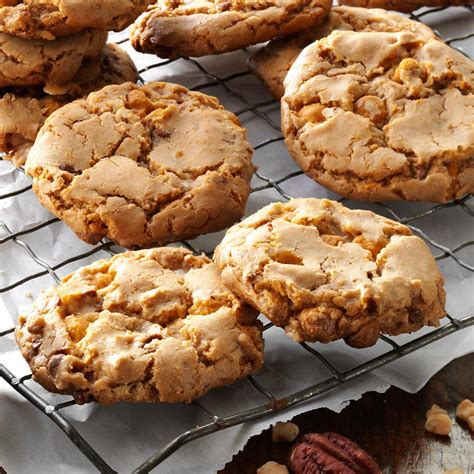 simple treats recipes butterscotch toffee cookies recipe taste of home