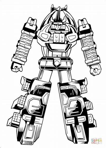 Coloring Pages Ready Fight Megazord Power Rangers
