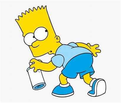 Bart Simpson Marge Paint Spray Transparent Clipart
