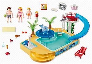 playmobil 5433 famille avec piscine et plongeoir achat With playmobil piscine avec toboggan pas cher