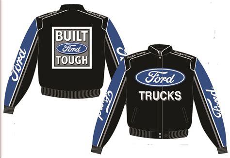 ford trucks mens black nascar twill jacket  jh design