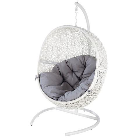 fauteuil de jardin blanc cocon maisons du monde