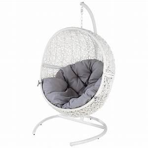 Fauteuil Suspendu Maison Du Monde : fauteuil de jardin blanc cocon maisons du monde ~ Premium-room.com Idées de Décoration