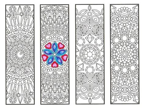 coloring bookmarks mandalas page 2 coloring for adults big and bookworms get