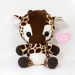 PDF sewing pattern Giraffe stuffed animal easy cute kawaii