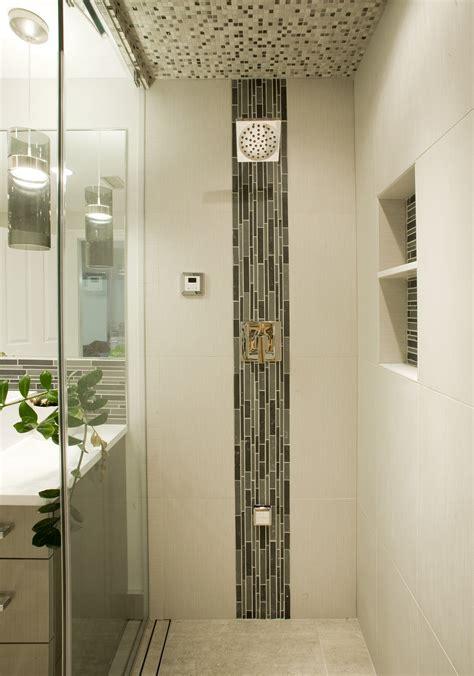 bathroom niche ideas stylish vertical tile in shower design ideas