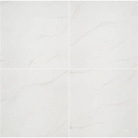 Msi Aria Ice 24 In X 24 In Polished Porcelain Floor And