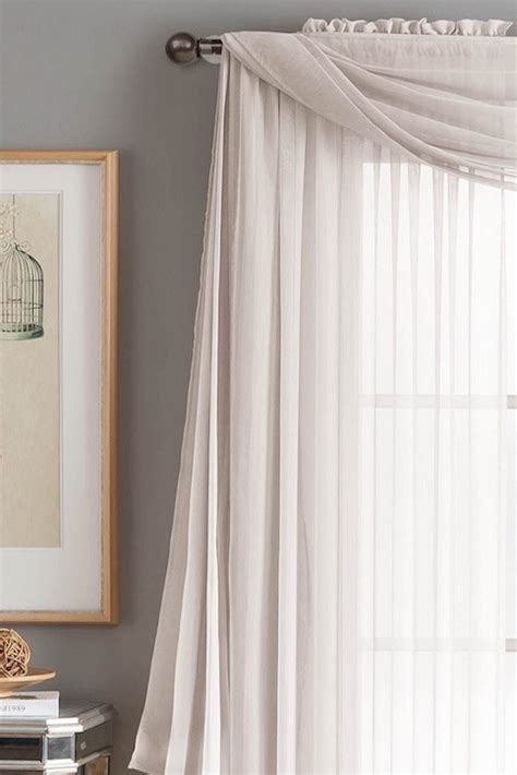 how to drape a scarf valance overstock
