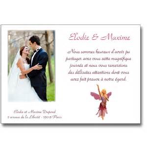 remerciement mariage remerciement mariage original images