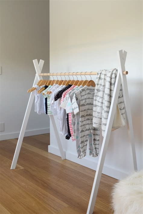 hanging clothes rack diy teepee clothing rack