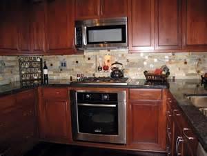 kitchen backsplash cherry cabinets backsplash ideas for cherry cabinets and black granite home design ideas