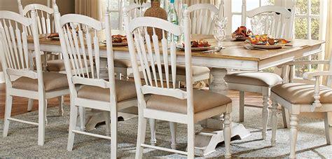 white and oak dining table set homelegance hollyhock trestle pedestal dining set