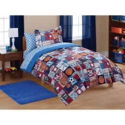 mainstays kids sports patch coordinated bed in a bag