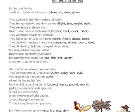 rhyming poetry worksheet