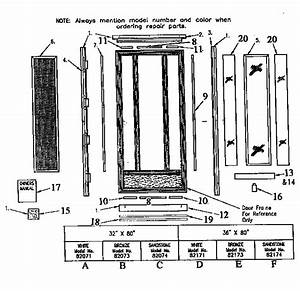 Sears Sidelite Storm Door Parts