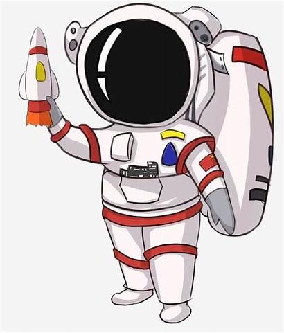 Astronaut Clipart Space Outer Cartoon Vector Astronauts