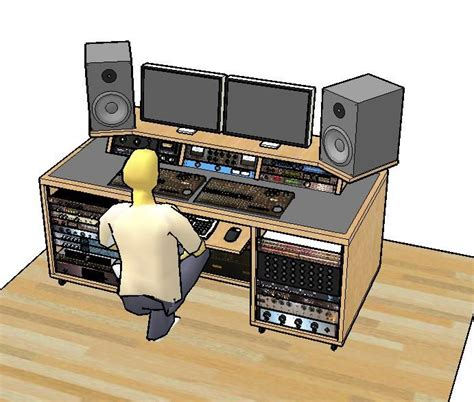 woodworking recording desk plans   recording