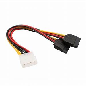 4 Pin Molex Male To Two 15 Pin Sata Power Cable