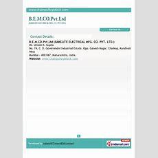 Bakelite Electrical Mfg Co Pvt Ltd, Mumbai, Lifting