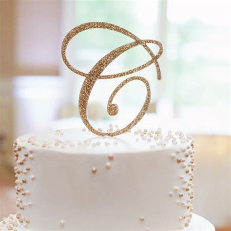 monogram cake topper z create design