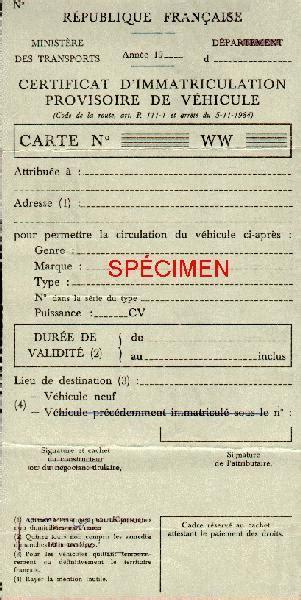 carte grise garage certificat d immatriculation provisoire