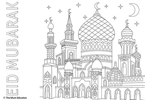 eid colouring sheets eid ul fitr islamic art animal coloring books coloring pages