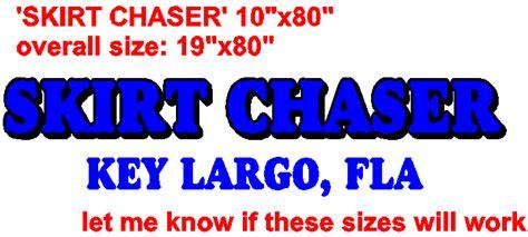Boat Lettering In Key Largo by Skirt Chaser Key Largo Florida Transom Boat Name Lettering
