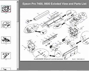 Epson Pro 7400  9800 Exloded View And Parts List