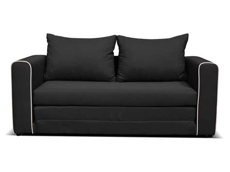 canap 233 convertible 2 places coloris noir conforama