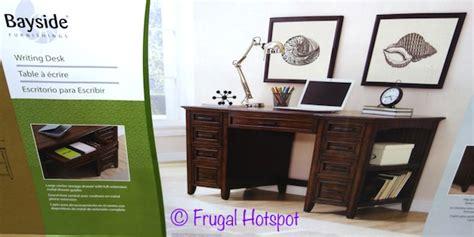 bayside furnishings 60 writing desk costco sale bayside furnishings executive writing desk