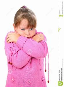 Girl In Pink Sweater Feeling Cold Embracing Self Royalty ...
