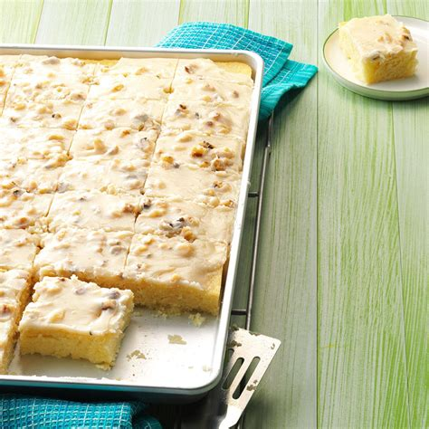 white sheet cake recipe taste of home