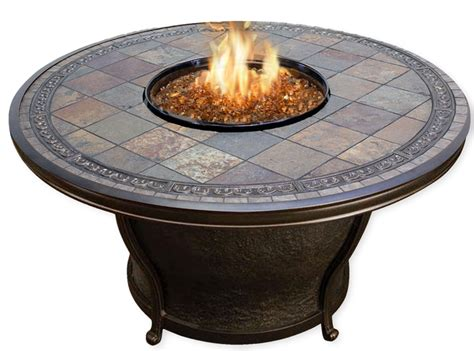 agio fire pit table agio tempe gas fire pit table with fire glass cover