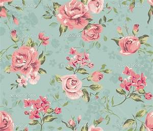 Vintage Flower Print Background